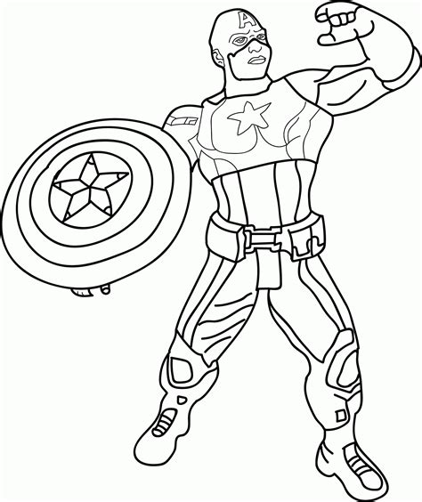 Avengers Captain America Coloring Pages Coloring Home Captain America Color Page