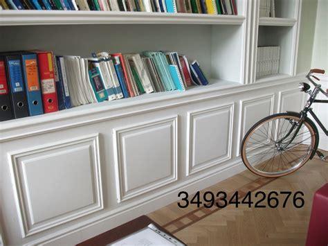 librerie in gesso foto libreria in cartongesso con boiserie in gesso di
