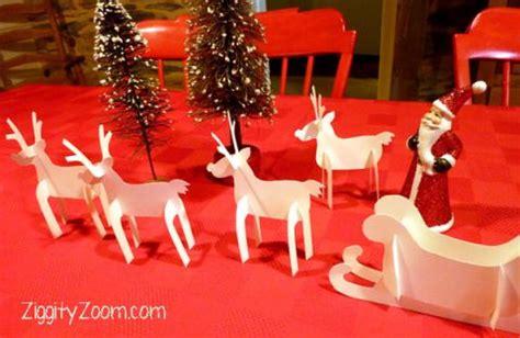 diy paper sleigh kids diy paper reindeer sleigh ziggity zoom