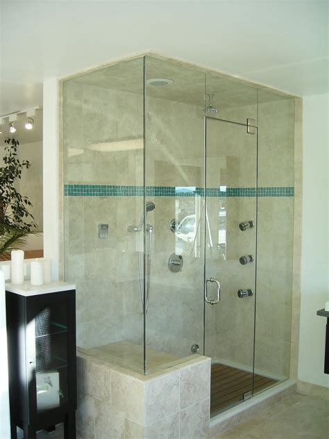 all glass bathroom love this all glass shower with bench master bath