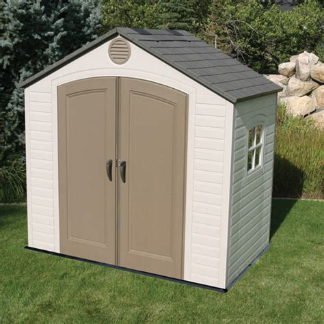 Outdoor Shed Reviews by Lifetime 8 Ft W X 5 Ft D Plastic Storage Shed Reviews
