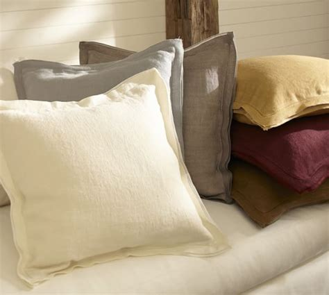 Pottery Barn Linen Pillow Covers by Linen With Silk Trim Pillow Cover Pottery Barn