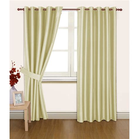 faux silk cream curtains faux silk thermal lined blackout ring top curtains more