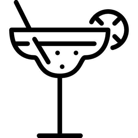 margarita clipart black and white margarita icon