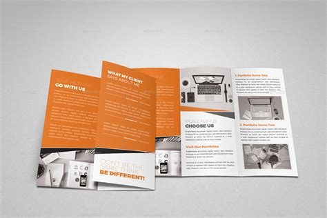 trifold brochure indesign template portfolio trifold brochure indesign template by jbn