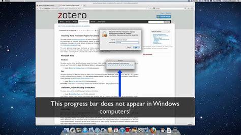 zotero installation tutorial installing zotero s ms word plugin youtube