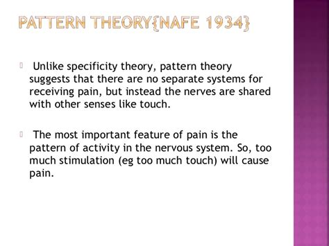 pattern theory of pain managment with modalities 1