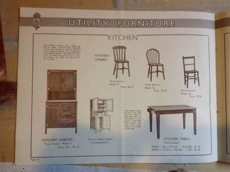 Utility Furniture 1940s by Utility Furniture Catalogue 1940s Utility Furniture