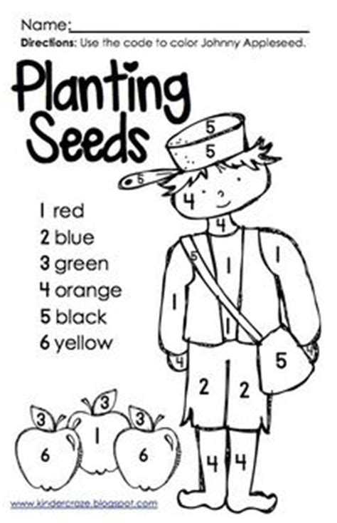 september coloring pages for kindergarten color by number johnny appleseed teacherspayteachers com