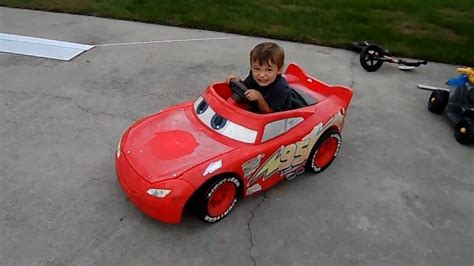 lighting mcqueen power wheels car power wheels 24 volt battery upgrade on disney pixar