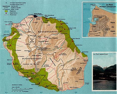 The Reunion map of reunion island and reunion map and information page