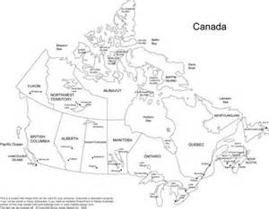 black and white map canada pictures to pin on