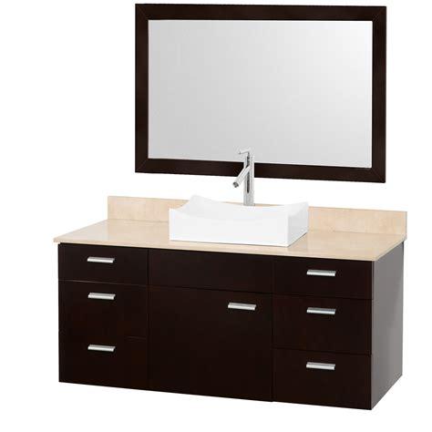 Vanity 52 Up by Encore 52 Quot Bathroom Vanity Set Espresso With Ivory
