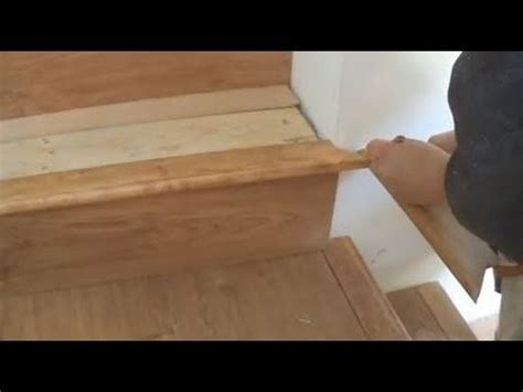 Installing Laminate on Stairs: Stair Tread and Nosing