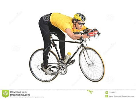Basketball Player On Bench by Young Man Riding A Bicycle Stock Photography Image 12328042