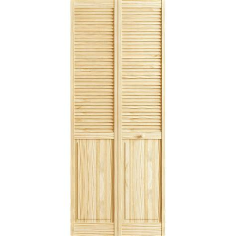 Louvered Doors Home Depot Interior Frameport 24 In X 80 In Louver Panel Pine Unfinished