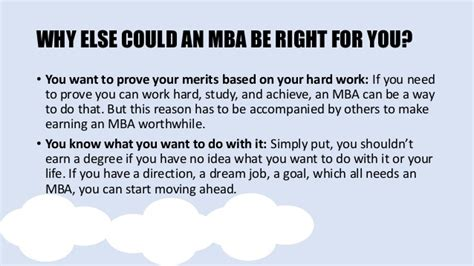 Why Do You Want To Do Mba From Our College by Is An Mba Right For You