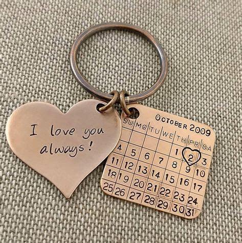 bronze anniversary keychain bronze gift  anniversary