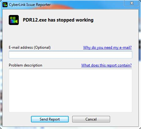 error message coreldraw has stopped working windows 7 customer support error powerdirector exe has stopped