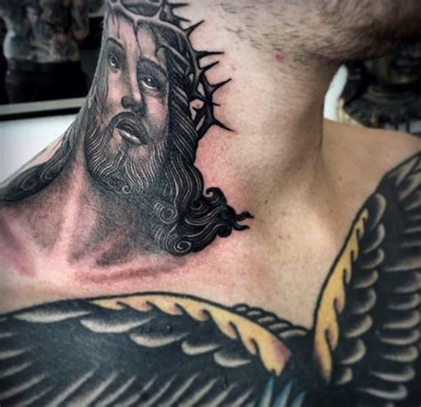 religious neck tattoo designs 49 impressive religious neck tattoos