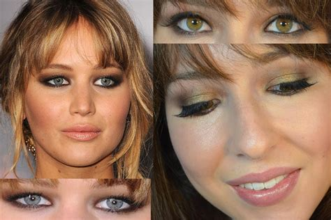 jennifer lawrence makeup tutorial jennifer lawrence hunger games red carpet makeup tutorial