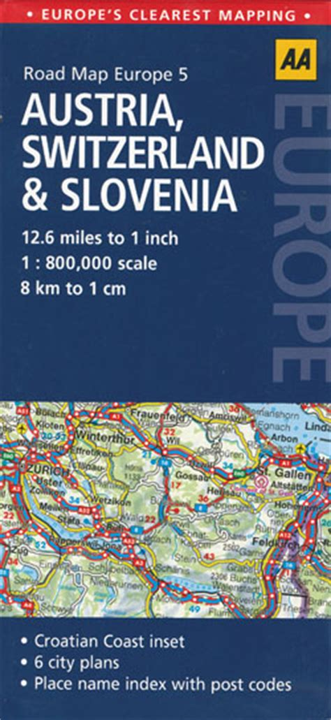 mapping design history in switzerland books austria switzerland and slovenia map aa maps books