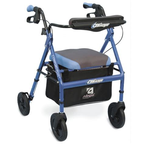 airgo comfort plus transport chair airgo 174 comfort plus xwd rollator bariatric iridescent