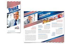 political campaign tri fold brochure template design