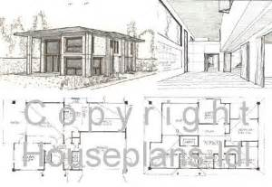 modern house plans plan floor free simple small lrg