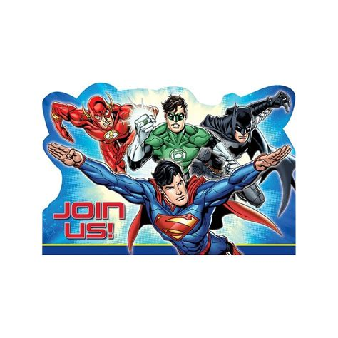 justice league printable birthday cards justice league invitation cards party supplies