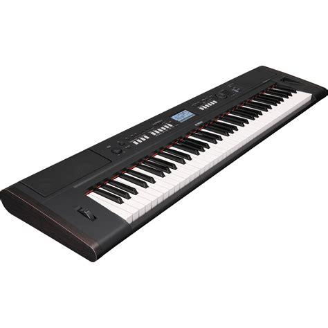 Keyboard Yamaha Piaggero Np V80 yamaha piaggero np v80 lightweight digital piano npv80 b h