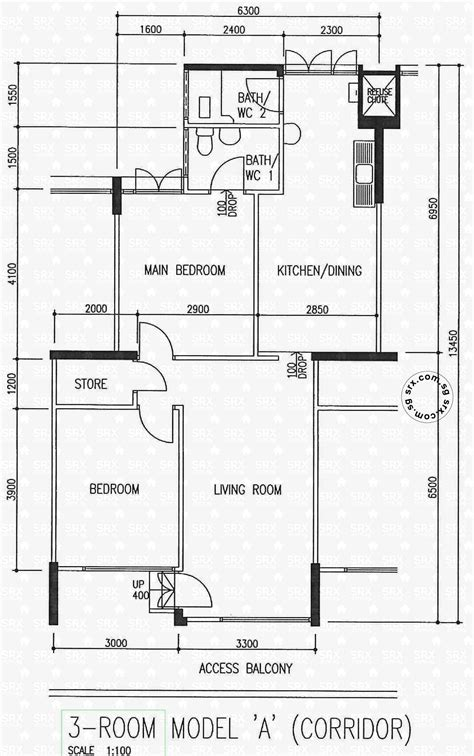hdb floor plans floor plans for chai chee road hdb details srx property