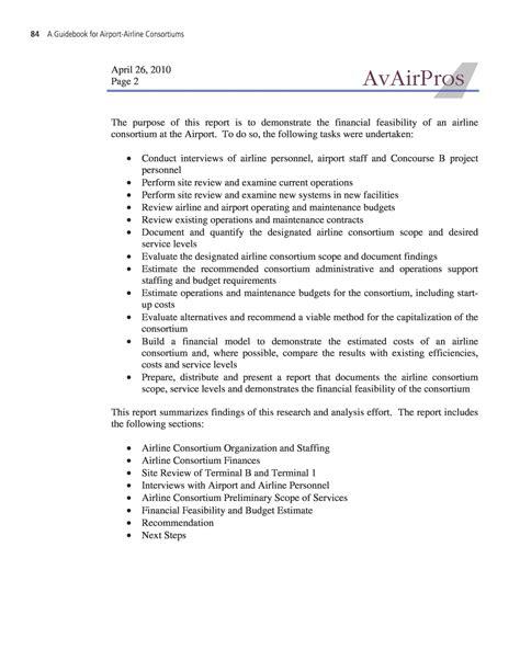 appendix e feasibility study illustrative exle a