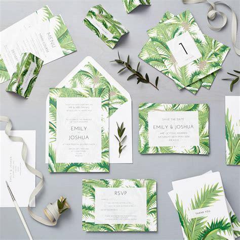 Tropical Wedding Invitations by Tropical Wedding Invitation Set By Says I Do