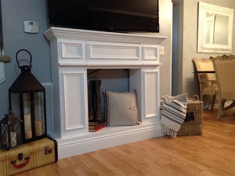How Do You Spell Fireplace Mantel by It Til You Make It The Of A Faux Fireplace
