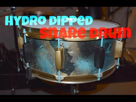 tutorial snare drum hydro dipping my snare drum custom painting tutorial