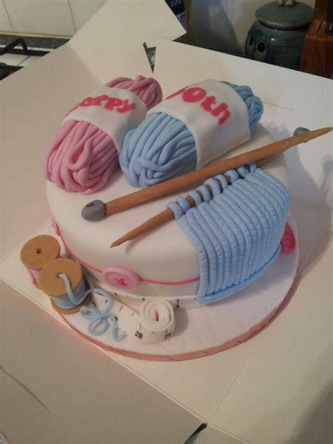 knitting cake g 226 teau sur le th 232 me du tricot cake decorating