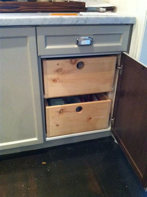 Add Drawers To Kitchen Cabinets by White Wood The Most Of Cabinet Space Adding Drawers