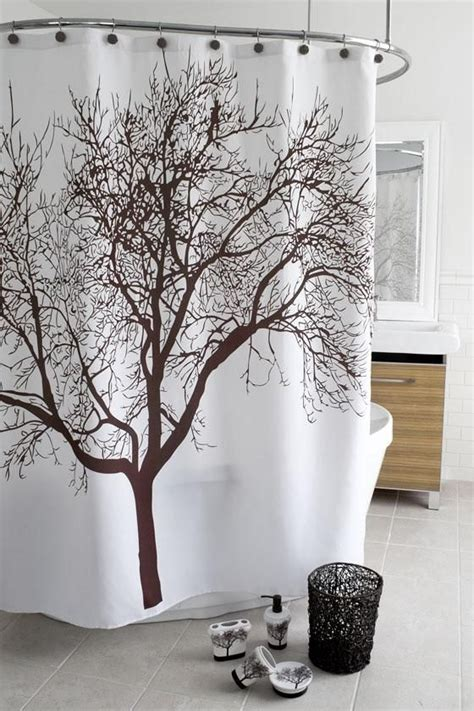 brown tree shower curtain brown tree shower curtain future home pinterest