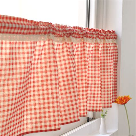 cheap plaid curtains online get cheap plaid kitchen curtains aliexpress com