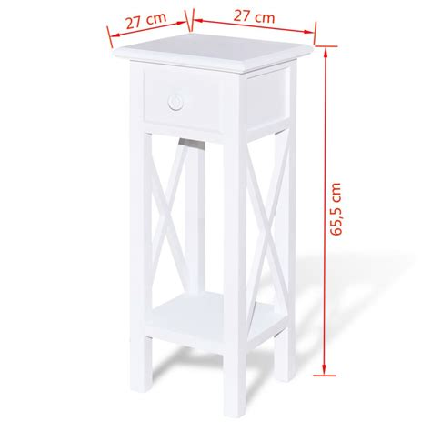 tavolino con cassetto tavolino laterale per telefono con cassetto bianco vidaxl it