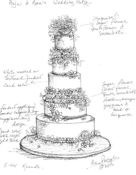 Hochzeitstorte Zeichnung by Tiered Cake Sketch Templates