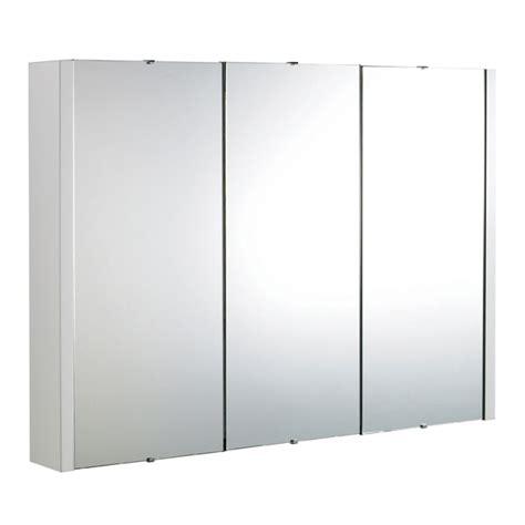 3 door bathroom cabinet premier minimalist 3 door bathroom mirror cabinet w900mm