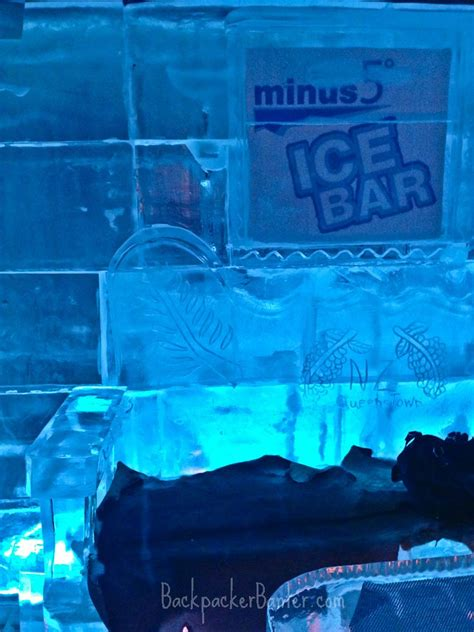 chilling   drinks     ice bar