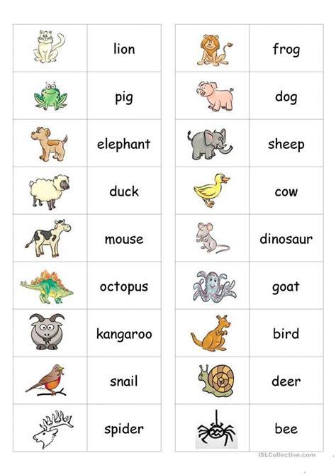 animal printable exercises animal dominoes worksheet free esl printable worksheets