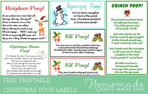 printable elf snot label funniest homemade christmas gag gifts and ideas