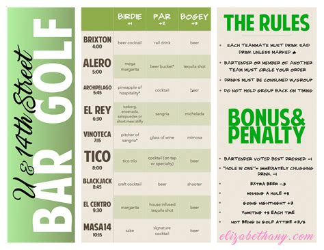 bar golf score cards template elizabethany how to play bar golf in dc