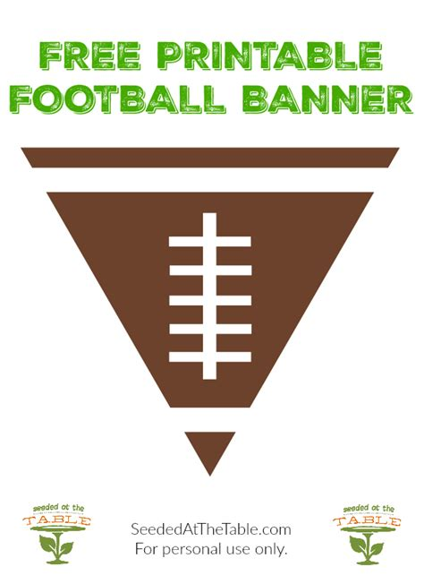 free printable soccer party decorations free printable football party banner