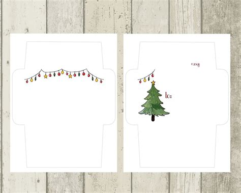 printable christmas cards and envelopes printable holiday mail art envelopes freebie the
