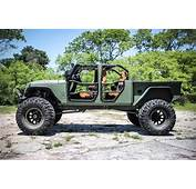 Jeep JK Crew Bruiser On 44s With A Truck Bed And Four Doors